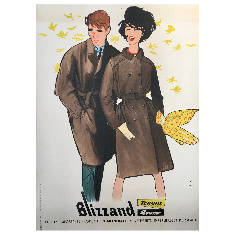 Original Vintage French Fashion Advertisement Poster 'Blizzand Breeze' by Gruau
