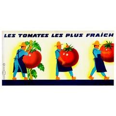 Original Vintage French Food Poster Les Tomates Les Plus Fraich Fresh Tomatoes