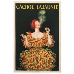 Original Vintage French Poster, Cachou Lajaunie Cappiello, 1930