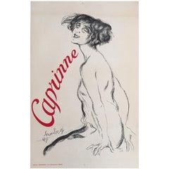 Original Vintage French Poster, 'Caprinne' Art Deco, 1927, Cabaret and Theatre