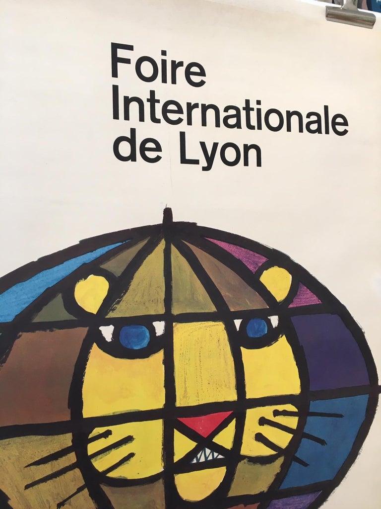 International Style Original Vintage French Poster, 'Foire Internationale De Lyon' 1959 by Piatti  For Sale