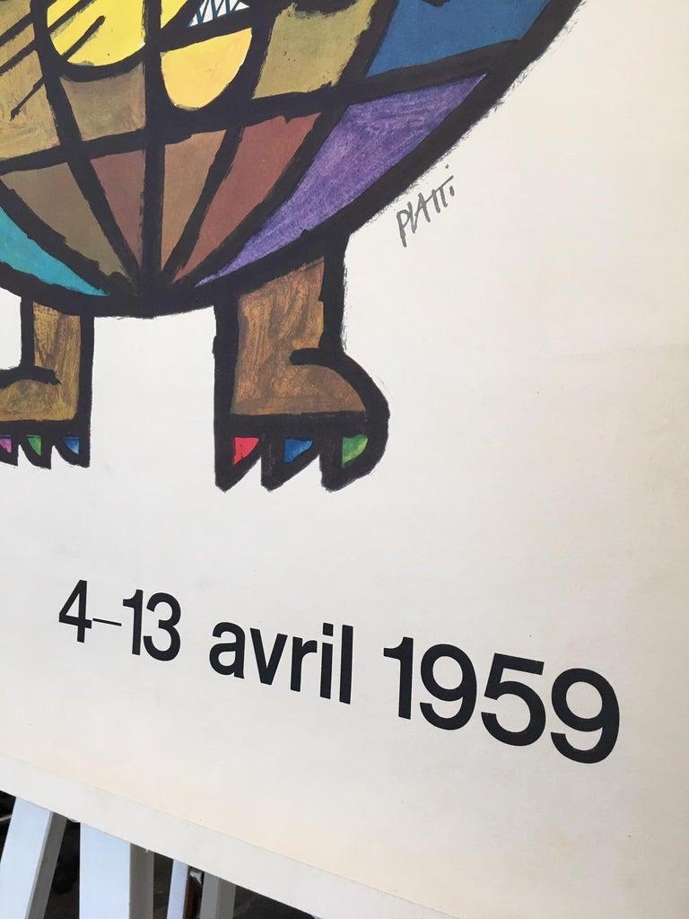 Original Vintage French Poster, 'Foire Internationale De Lyon' 1959 by Piatti  In Good Condition For Sale In Melbourne, Victoria