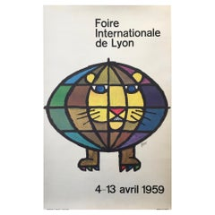 Original Vintage French Poster, 'Foire Internationale De Lyon' 1959 by Piatti