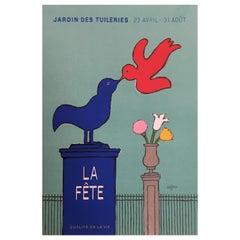 Original Vintage French Poster 'Jardin Des Tuleries La Fete' by Savignac 1976
