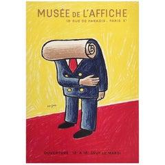 Original Vintage French Poster, Musee de L'affiche by Savignac, 1978
