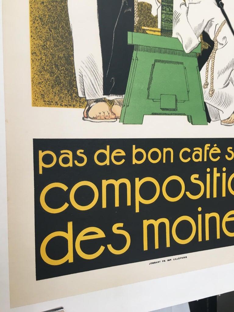 Original Vintage French Poster, 'Pas De Bon Cafe Sans Composition Des Moines'  In Good Condition For Sale In Melbourne, Victoria