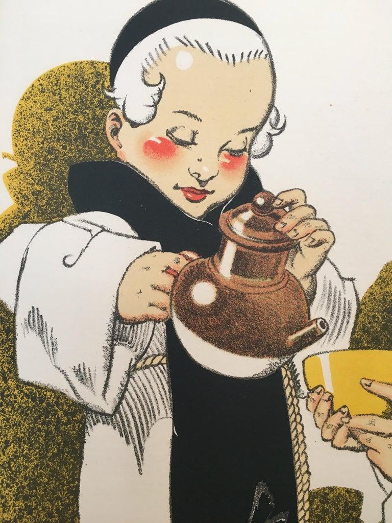 Original Vintage French Poster, 'Pas De Bon Cafe Sans Composition Des Moines'  For Sale 1