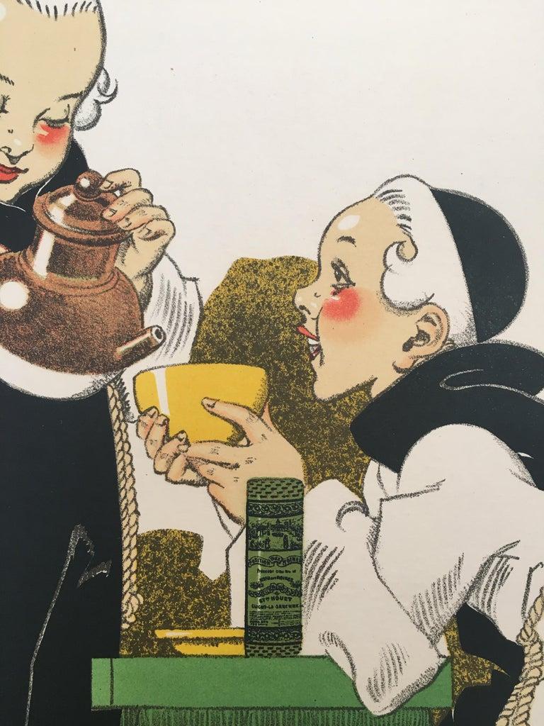 Original Vintage French Poster, 'Pas De Bon Cafe Sans Composition Des Moines'  For Sale 2