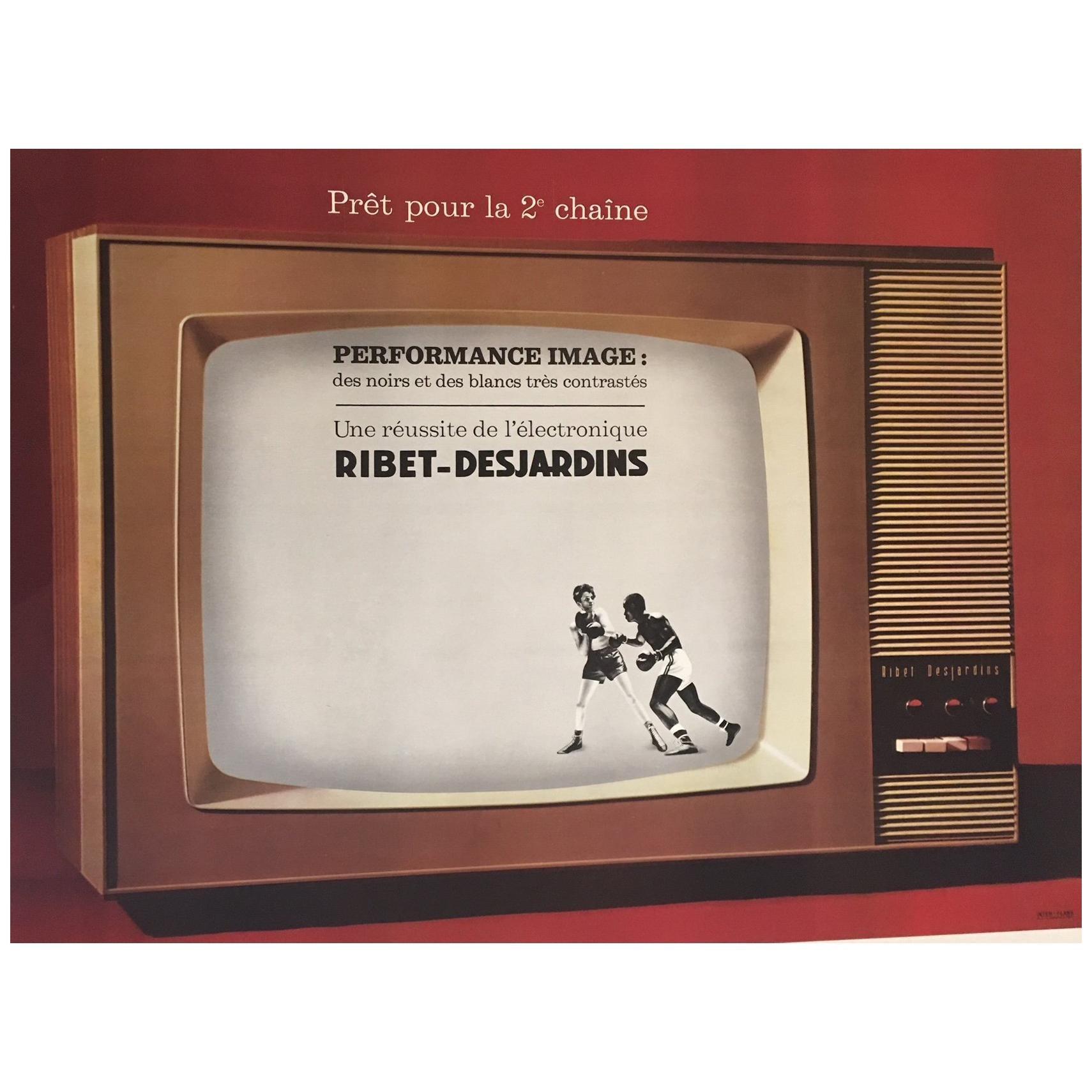 Original Vintage French Poster, Performance Image Television, 1960