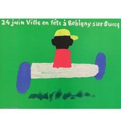 Original Vintage French Poster, Ville En Fête À Bobigny Sur Ourcq by Quarez