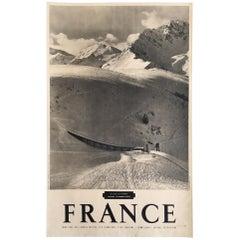 Original Vintage French Ski Poster, 'France', 1958