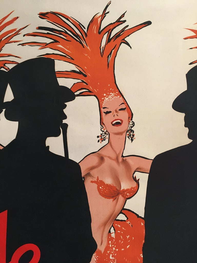 Original vintage French theatre and cabaret poster 'Lido C'est Magnifique' Gruau