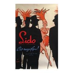Original Vintage French Theatre & Cabaret Poster 'Lido C'est Magnifique' Gruau