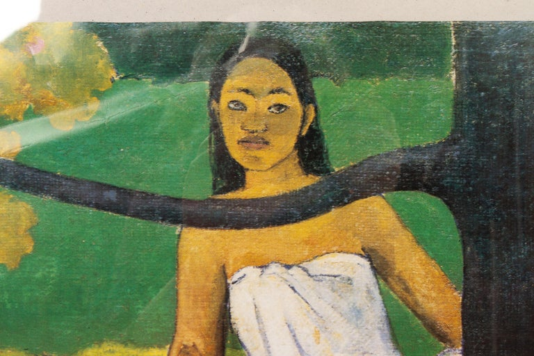 French Original Vintage Gauguin Exhibition Poster, 1980s For Sale