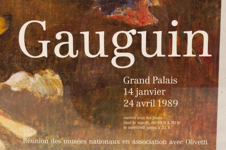Paper Original Vintage Gauguin Exhibition Poster, 1980s