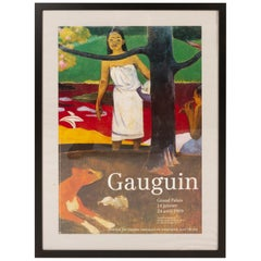 Original Vintage Gauguin Exhibition Poster, 1980s