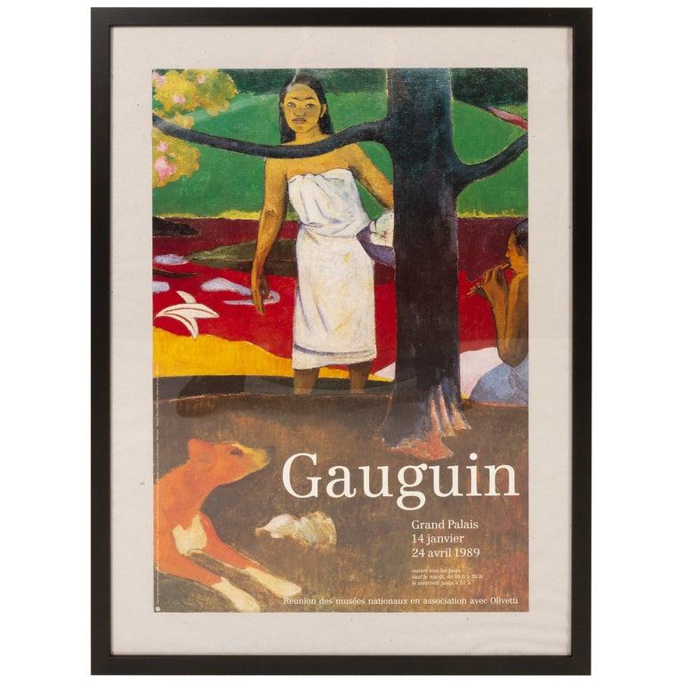 Original Vintage Gauguin Exhibition Poster, 1980s