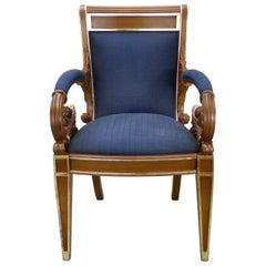 Original Vintage Gianni Versace Vanitas Carved Armchair