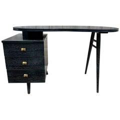 Original Vintage Gilbert Rohde Kidney Shape Cerused Desk