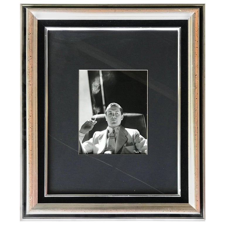 Original Vintage Hollywood Glamour Photograph of Robert Montgomery For Sale