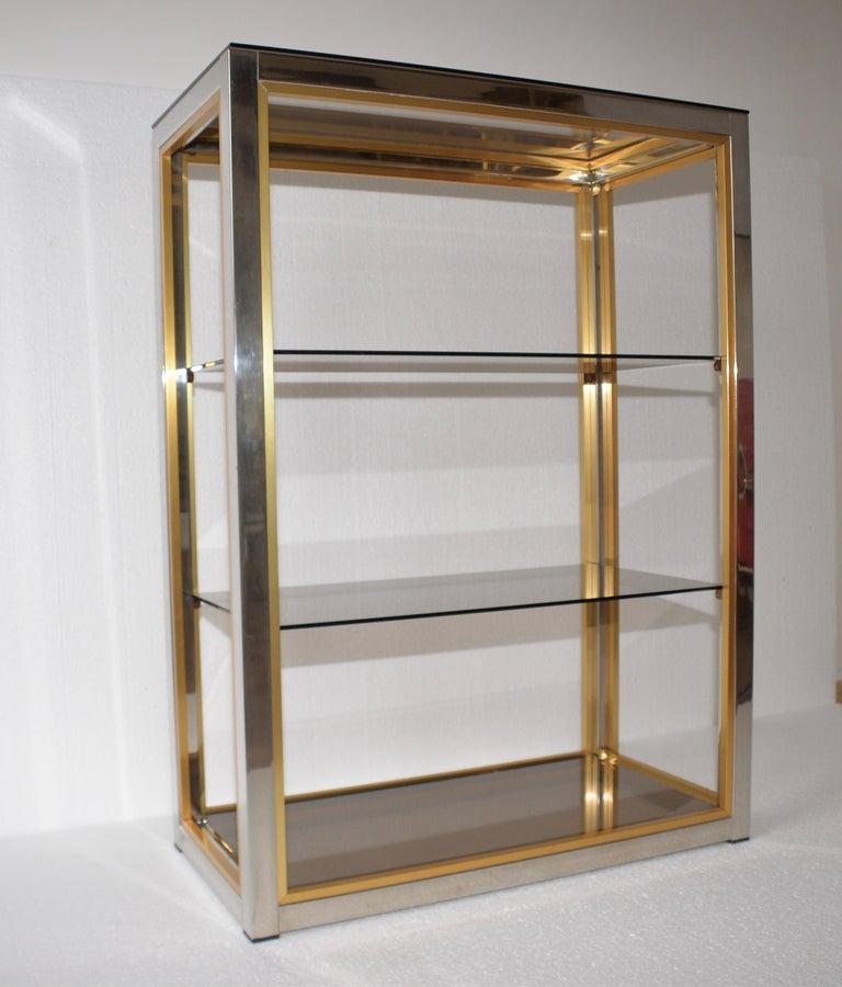 Brass Original Vintage Italian Zevi Shelving Unit For Sale