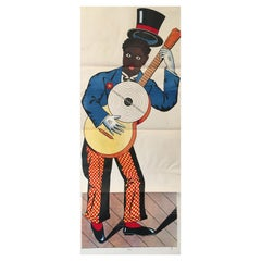 Original Vintage Lithograph, 'Wissembourg Guitar', France c. 1880
