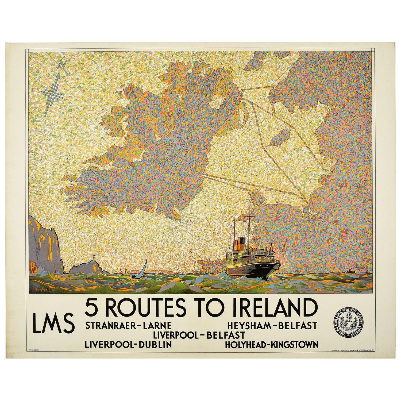 398 Vintage Railway Art Poster London LMS