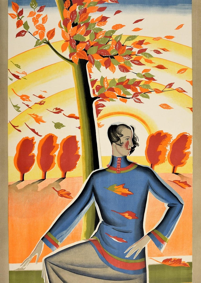 Original Vintage London Underground Poster There Is Still The Country Autumn Art In Good Condition For Sale In London, GB
