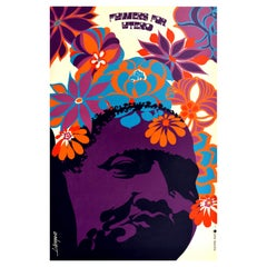 Original Vintage Memorial Poster - Flowers For Lutero - Martin Luther King Jr.