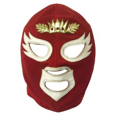 Original Vintage Mexican Wrestling Mask by Ranulfo López