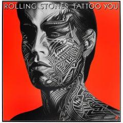 Original Vintage Mick Jagger Poster the Rolling Stones Tattoo You Album Design
