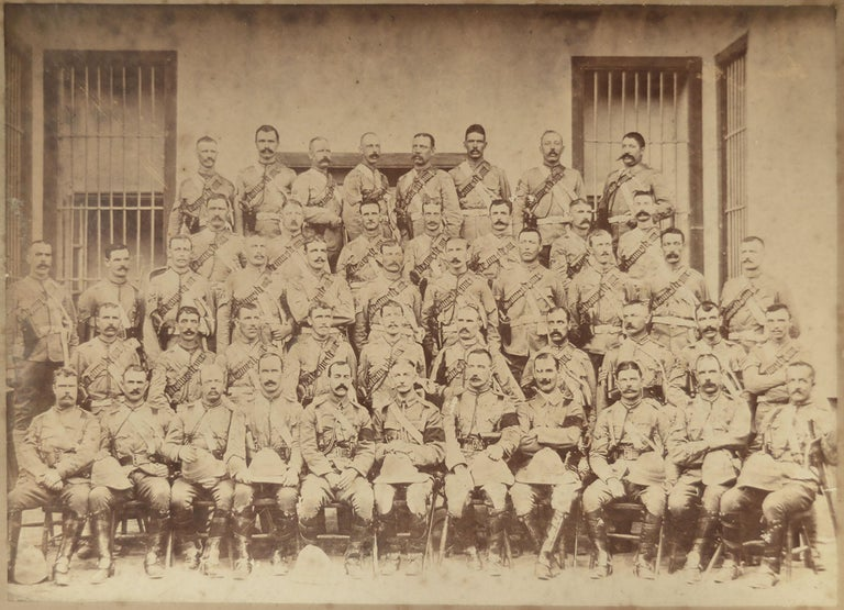 Wonderful old photograph of military gentlemen. Probably on an Indian Campaign.
