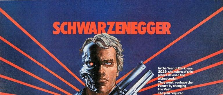Original Vintage Movie Poster Arnold Schwarzenegger The Terminator