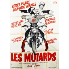 Original Vintage Movie Poster Les Motards The Motorcycle Cops French Comedy Film