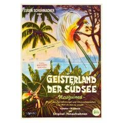 Original Vintage Movie Poster New Guinea Bird Of Paradise Rainforest Nature Film