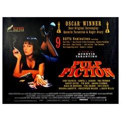 Original Vintage Movie Poster Pulp Fiction Quentin Tarantino Oscars Bafta Cannes