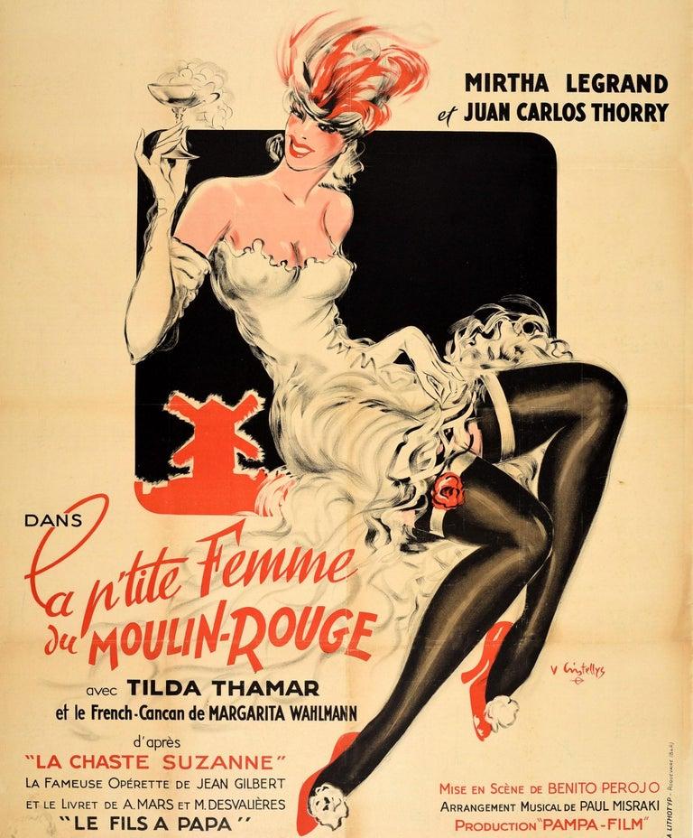 French Original Vintage Music Movie Poster La P'tite Femme Du Moulin Rouge Chaste Susan For Sale