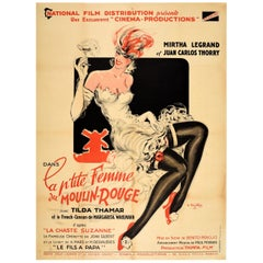 Original Vintage Music Movie Poster La P'tite Femme Du Moulin Rouge Chaste Susan