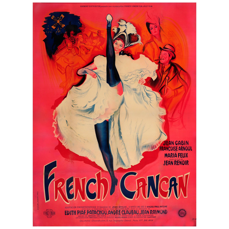 Original Vintage Musical Movie Poster French Cancan Ft Moulin Rouge Dancer Paris