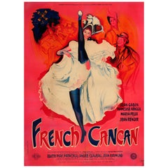 Original Vintage Musical Movie Poster French Cancan Ft Moulin Rouge Dancer Paris