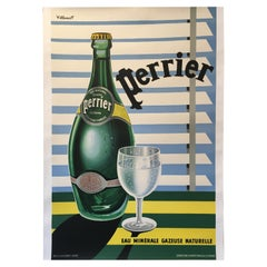 Original Vintage Perrier Poster 1956 'Eau Minerale Gazeuse Naturelle' Villemot