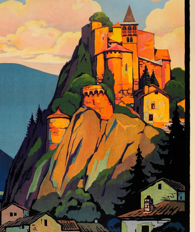 French Original Vintage PLM Railway Travel Poster by Broders - Cornillon Saint Etienne