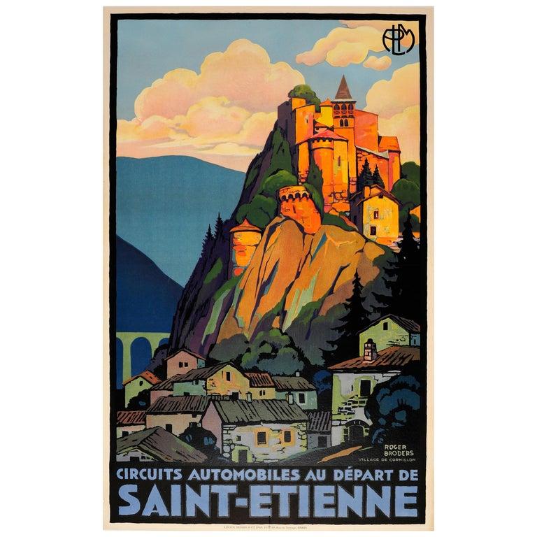 Original Vintage PLM Railway Travel Poster by Broders - Cornillon Saint Etienne