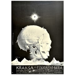 Original Vintage Polish Release Film Poster Kraksa Mask Design A Dangerous Game
