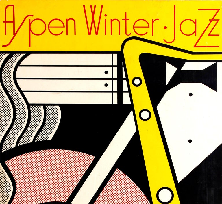 sale retailer a315a 09450 Original vintage music event advertising poster for the Aspen Winter Jazz  Festival on 26 February 1967