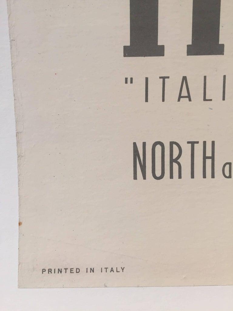 Original Vintage Poster, Travel Italy, Jean Colin Italian Line 1