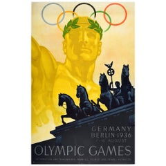 Original Vintage Poster 1936 Olympic Games Berlin Germany Summer Olympics Sport