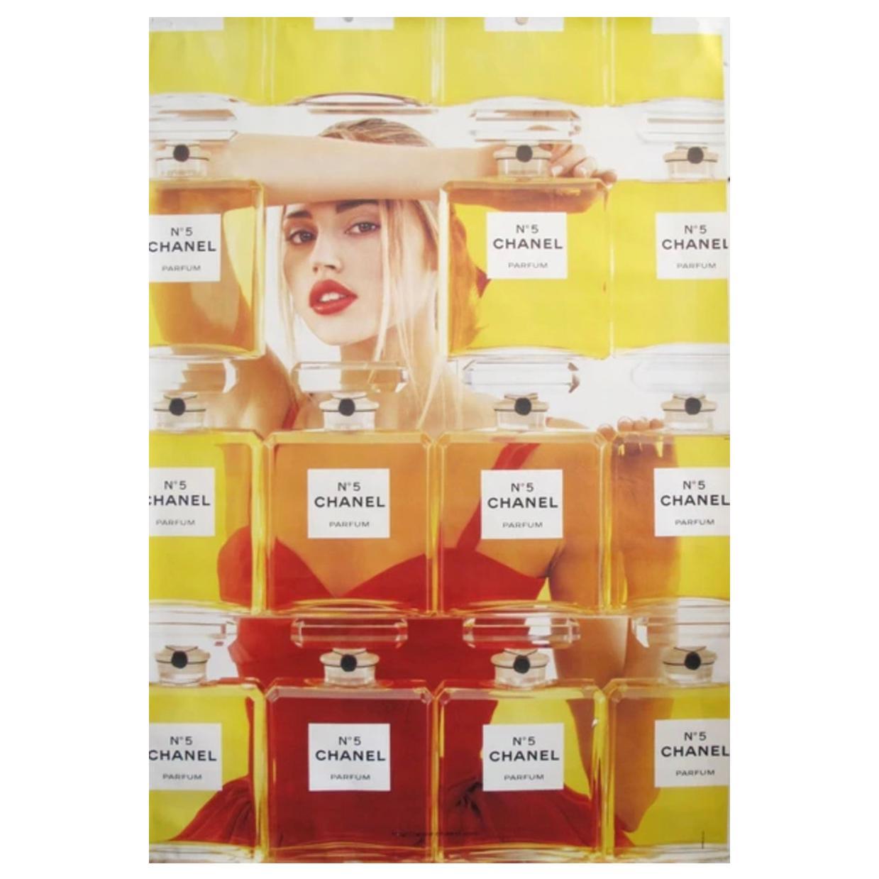 Original Vintage Poster 1999 Chanel No. 5 Poster Perfume Bottles