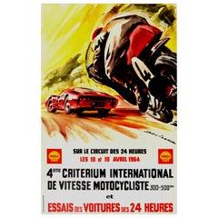 Original Vintage Poster 24 Heures Du Mans Speed Racing Le Mans Motor Sport Art