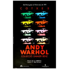 Original Vintage Poster Andy Warhol Cars Exhibition Daimler Benz Pop Art Design